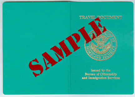 Example Re-entry Permit: Cover